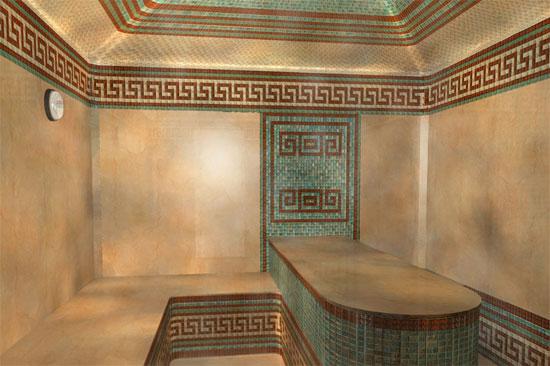 Большая турецкая баня с курной и массажным.